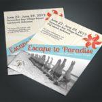 escape-to-paradise-flyer design
