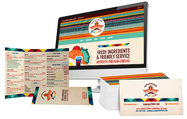 Taqueria ponce branding package