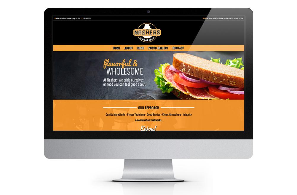 nashers restaurant website design