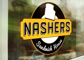 nashers-logo-window-mockup