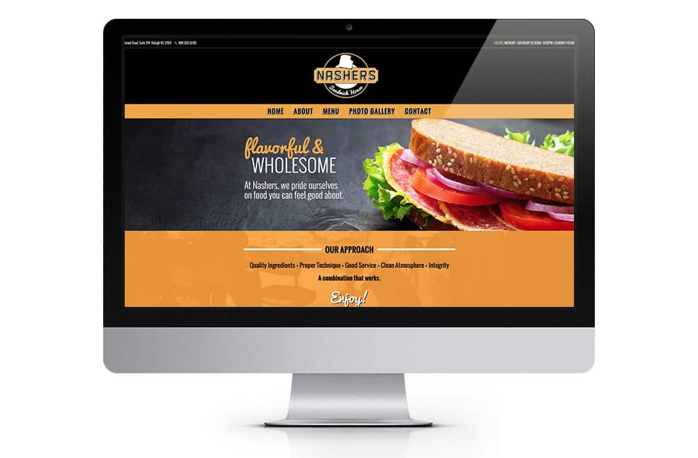 Nashers Sandwich Shop Website Design