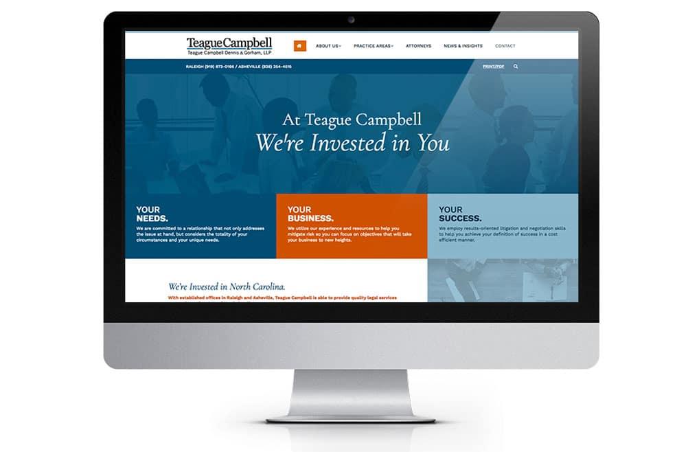 Teague Campbell Website Design