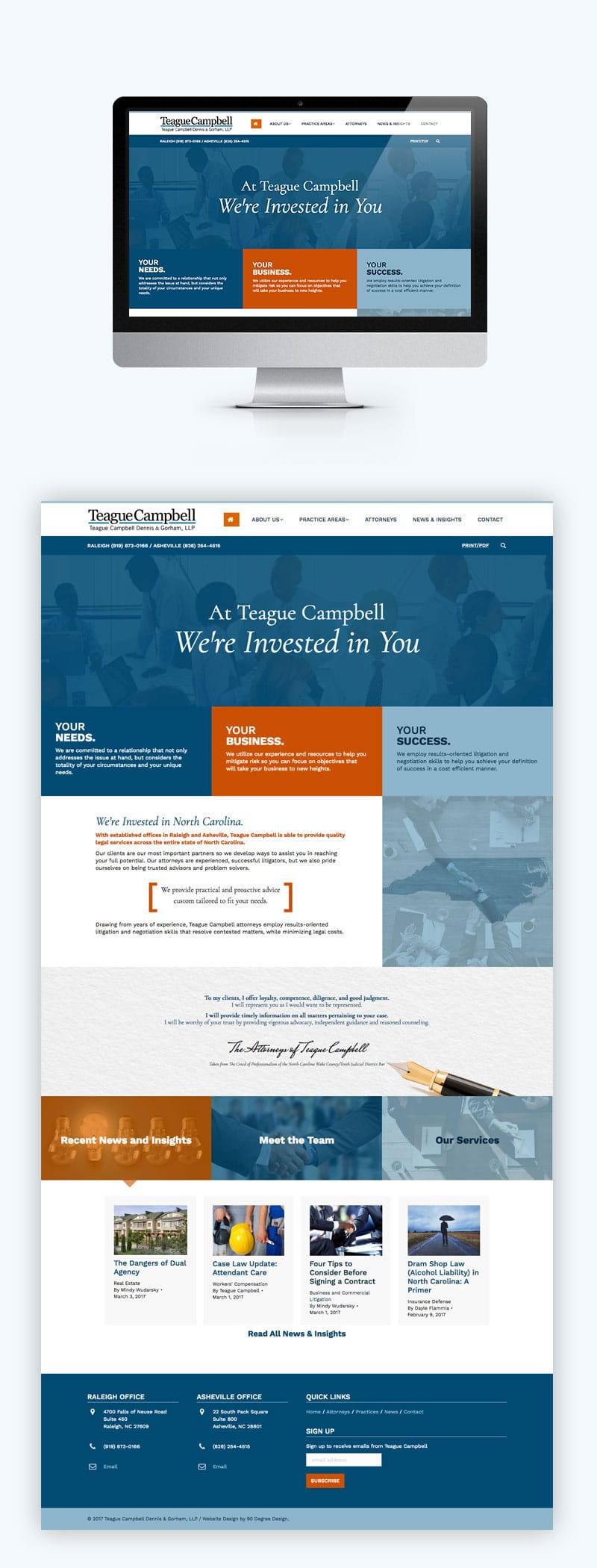 Teague Campbell Website Design