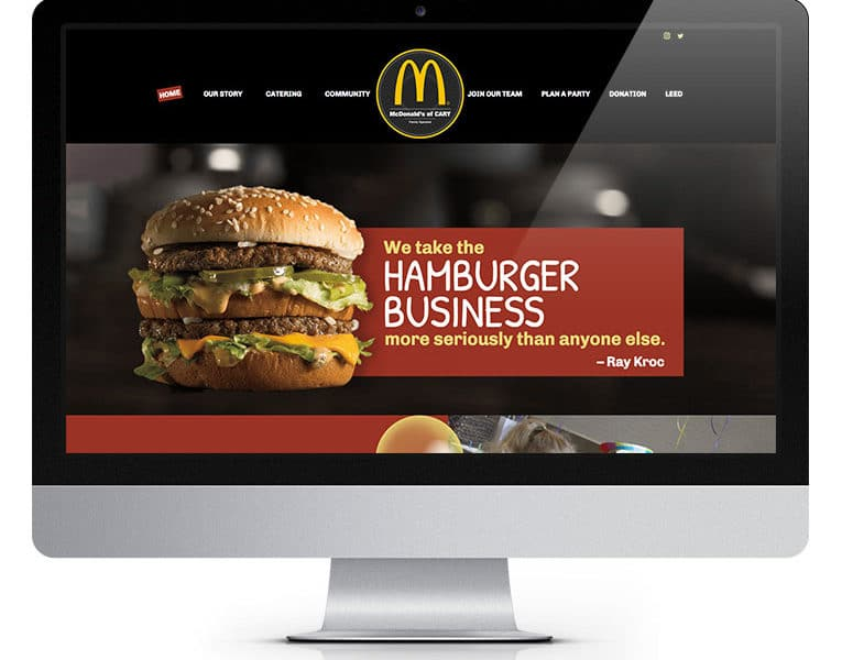 Macdonalds website design